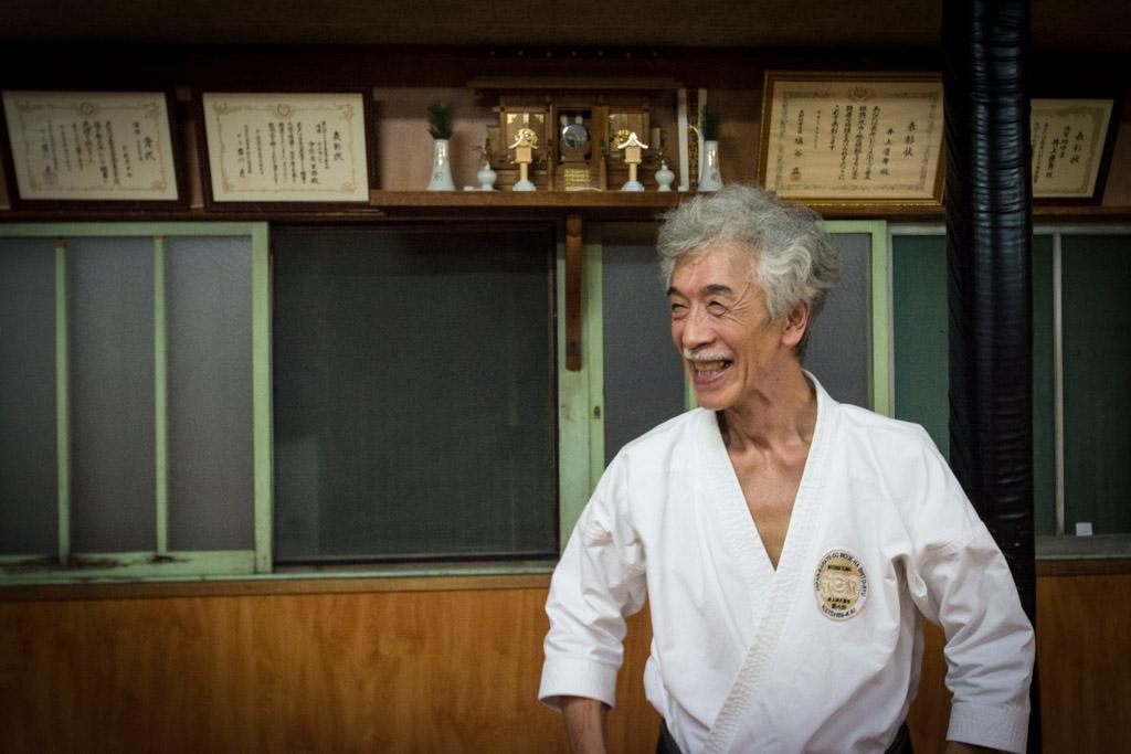 Soke Inoue Yoshimi, un excellent professeur doté d'un gros sens de l'humour.